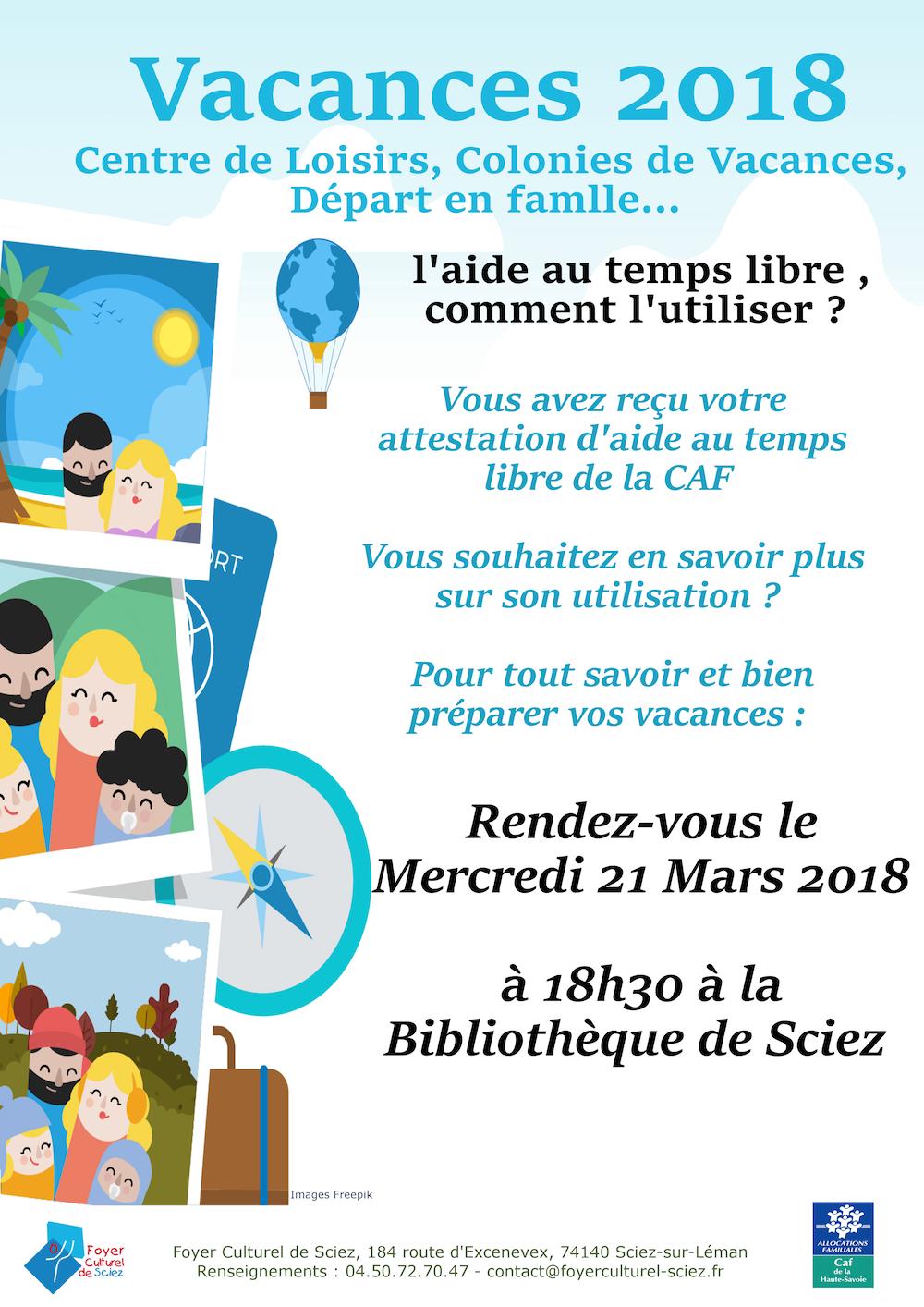 Information Bons Vacances Caf Lac Chablais